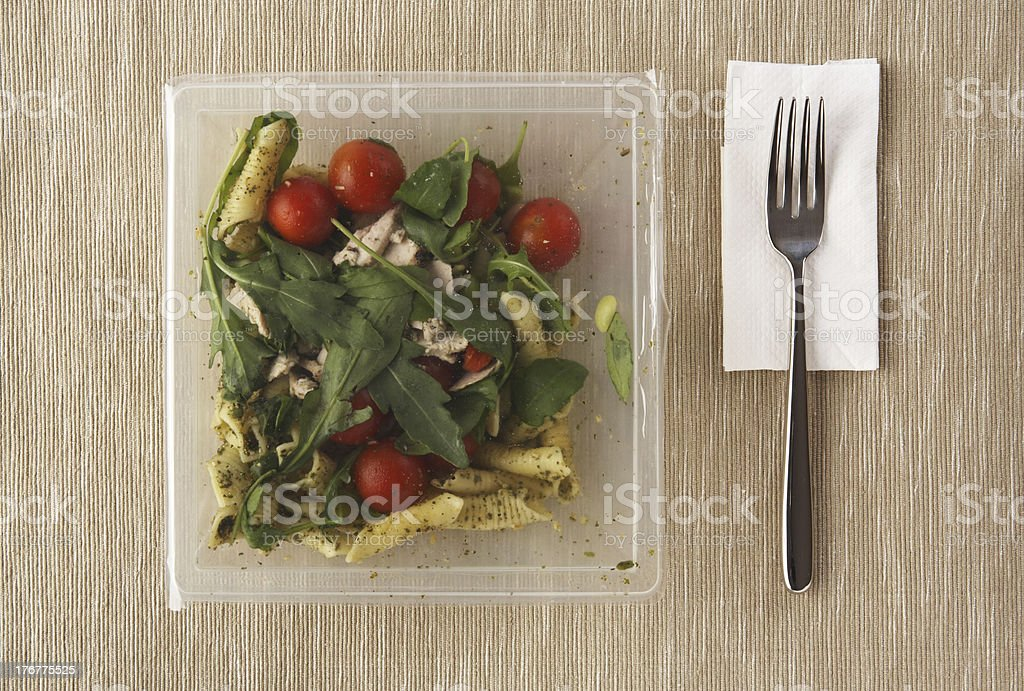 Pre-packaged, microwaveable Chicken and Vegetable Pasta ready meal from supermarket stock photo