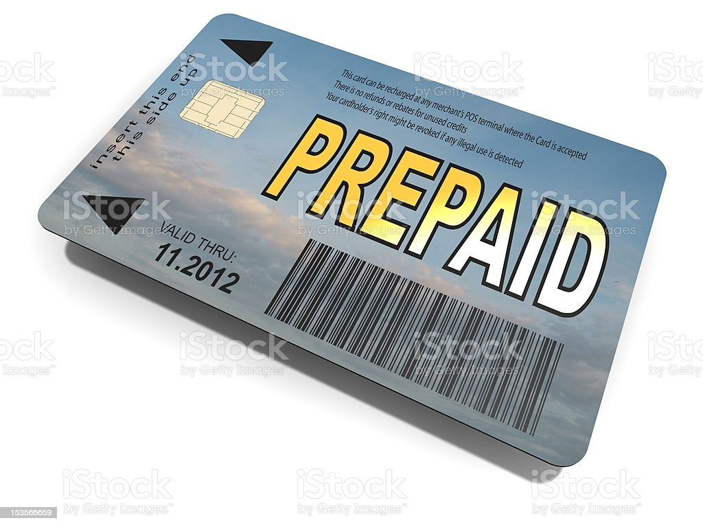 Prepaid card royalty-free stock photo