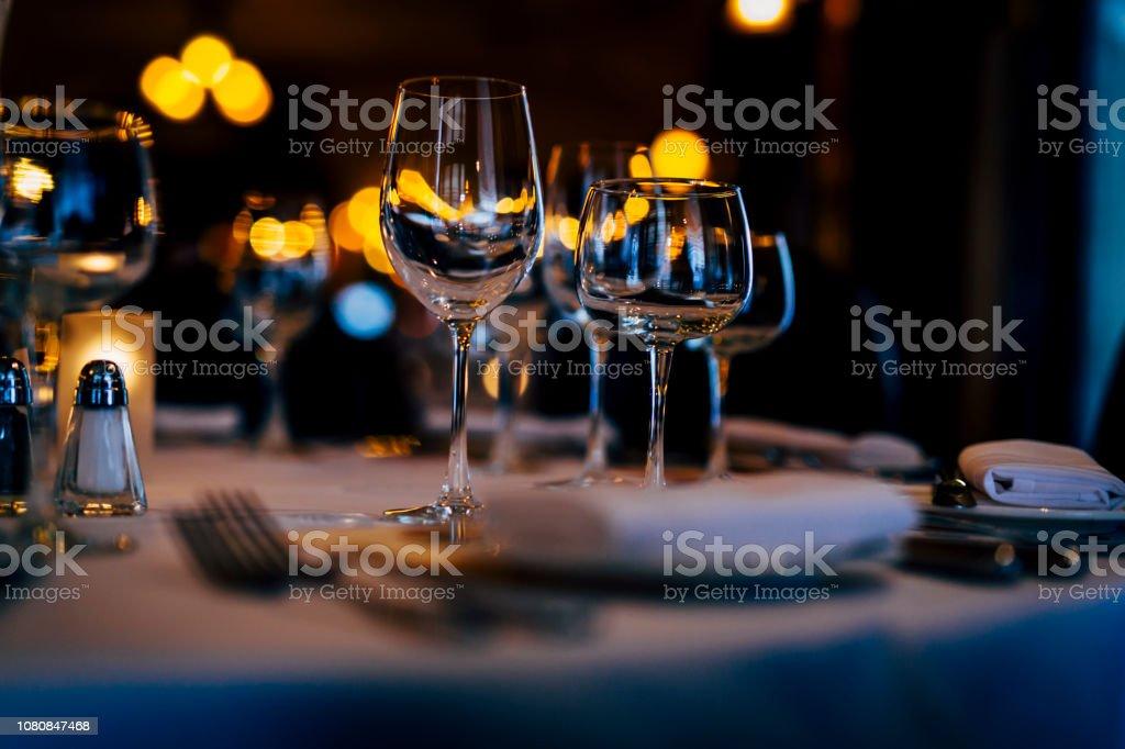 Preparation for Christmas dinner and new eve dinner. Luxury design...