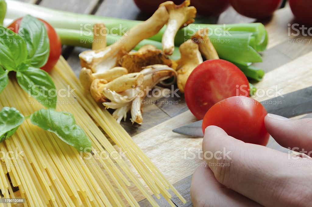 Preparation for Pasta royalty-free stock photo
