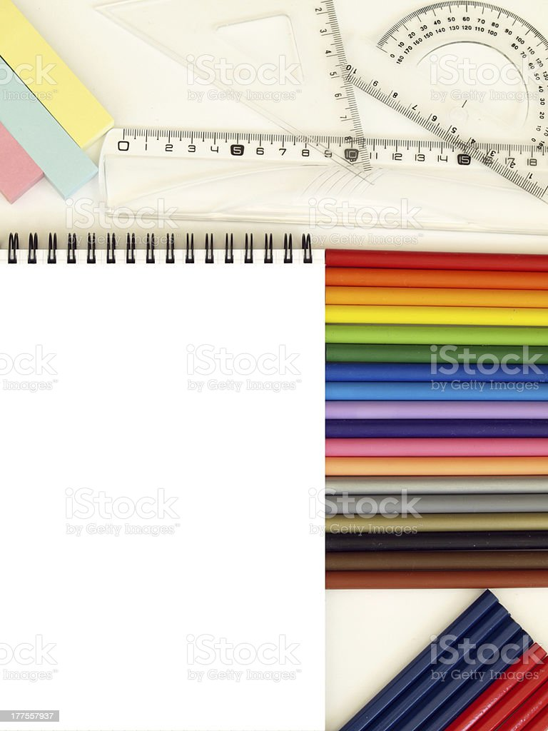 Preparation for school royalty-free stock photo
