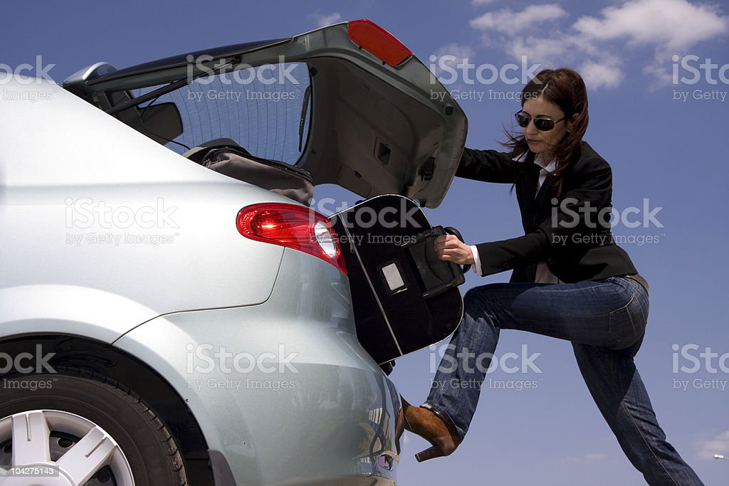 preparation for trip royalty-free stock photo