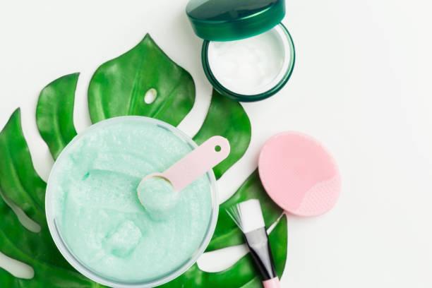 vorbereitung hausgemachten bio-kosmetik - makeup selbst gemacht stock-fotos und bilder
