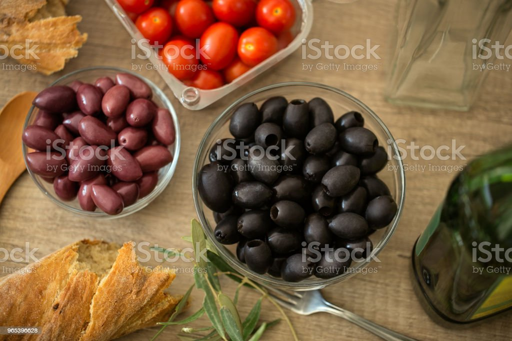 Preparation of healthy food vegetable salad royalty-free stock photo