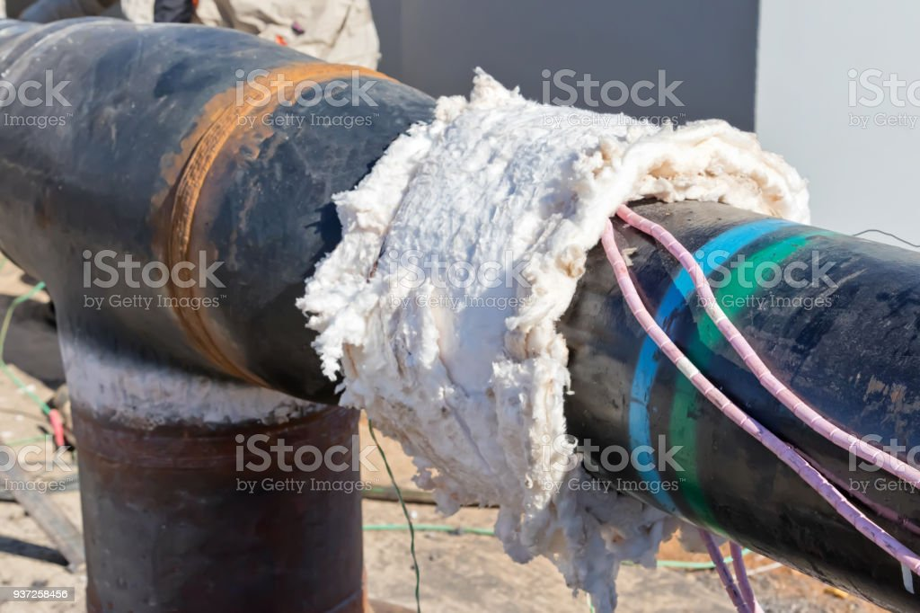 Preparation of multi-pass welded joints to heat treatment stock photo