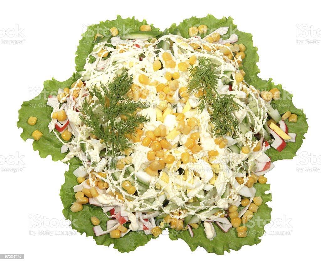 Preparation of salad royalty-free stock photo