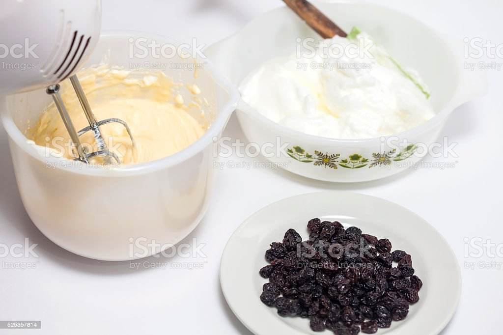 Preparation of the  topfen füllen filling stock photo