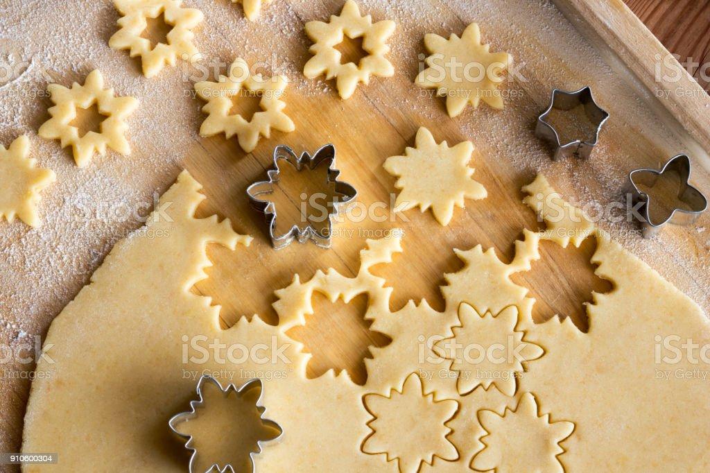 Linzer Weihnachtsplätzchen.Vorbereitung Der Traditionellen Linzer Weihnachtsplätzchen Sterne