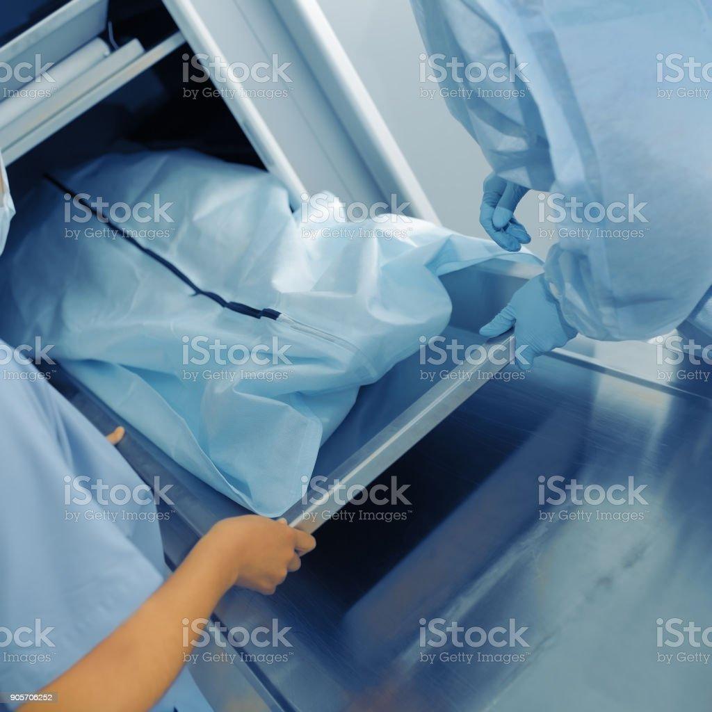Vorbereitung auf die Post-Mortem-Untersuchung – Foto