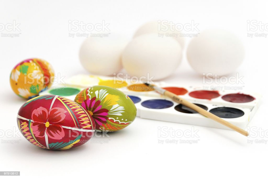 Preparations for Easter celebration royalty-free stock photo