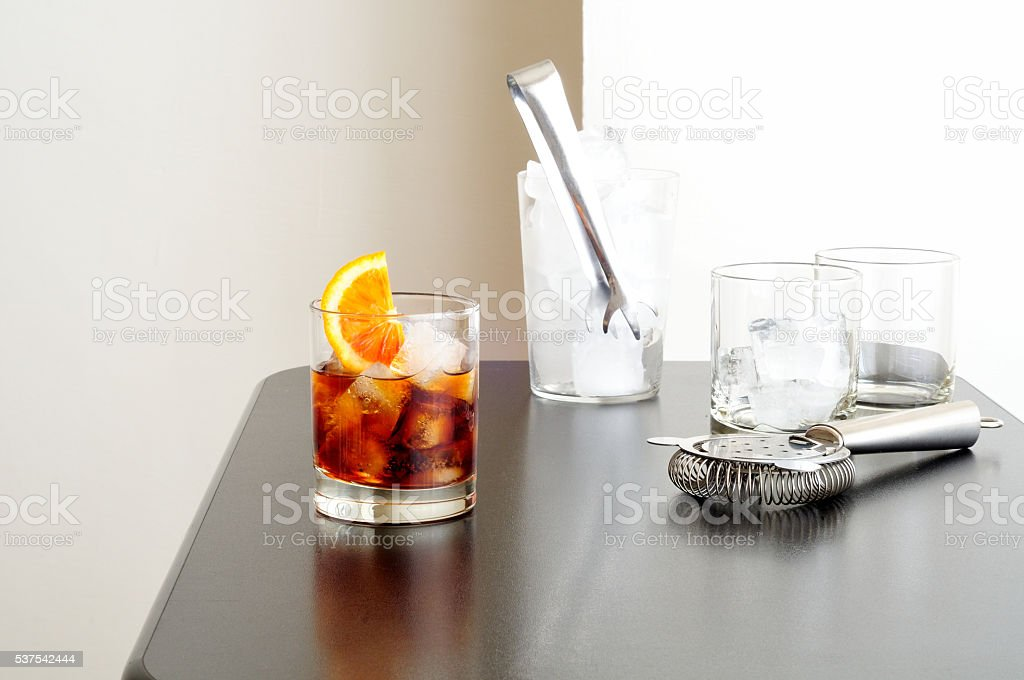 prepare cocktails for a party stock photo