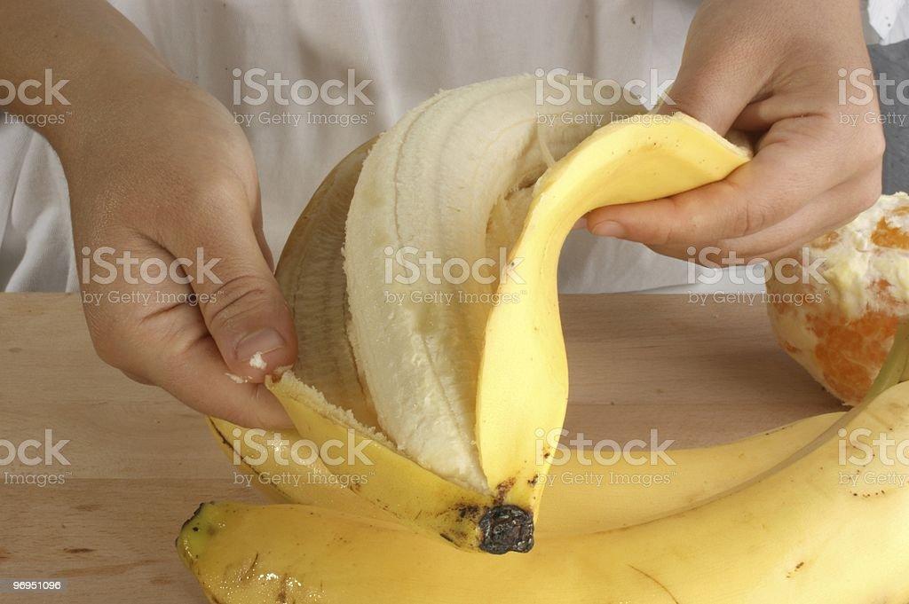 prepare fruit to make a fruitsalad royalty-free stock photo