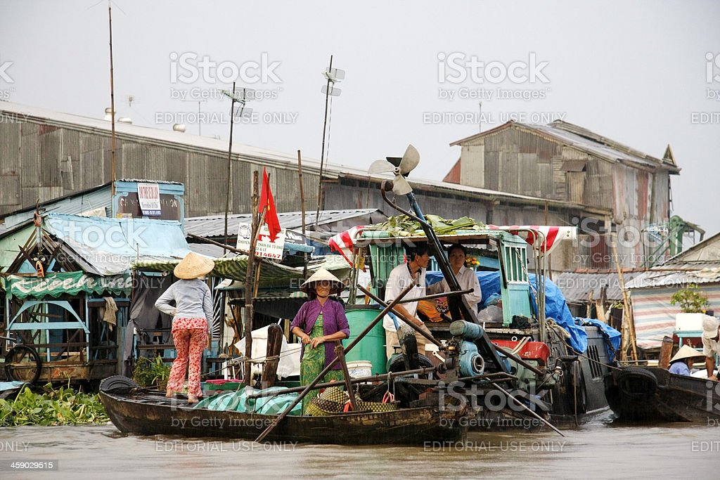 Prepare to set off on canals around Can Tho stock photo