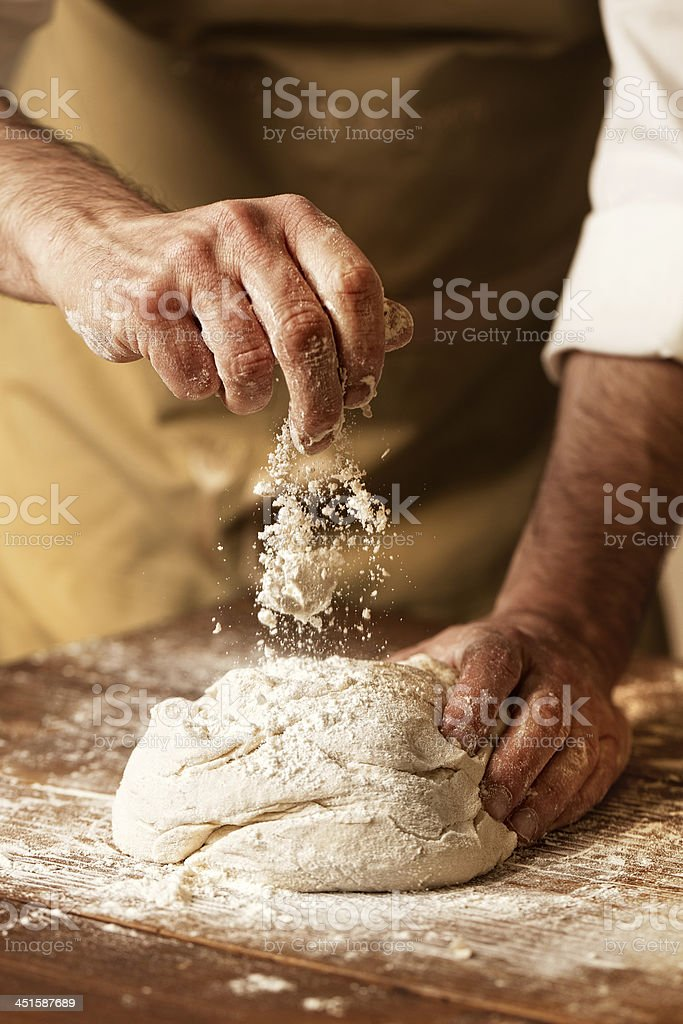 prepare yeast dough stock photo