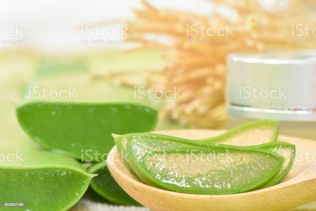 Prepared aloe vera use in spa for skincare and cosmetic stock photo more pictures of aloe istock - Aloe vera en pot ...