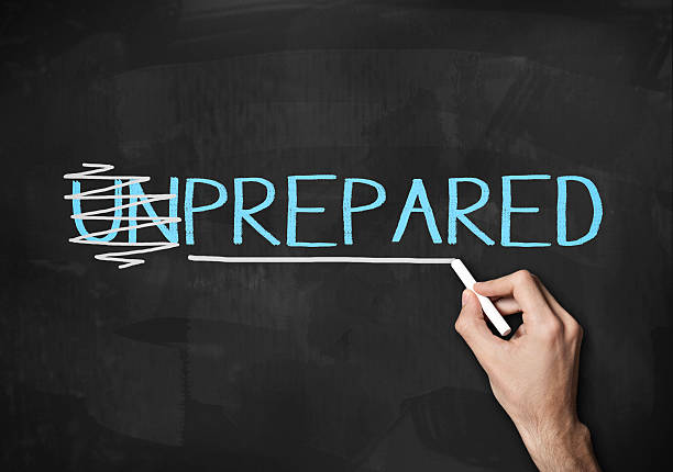 preparada y desprevenida (haga clic para obtener más información) - preparación fotografías e imágenes de stock