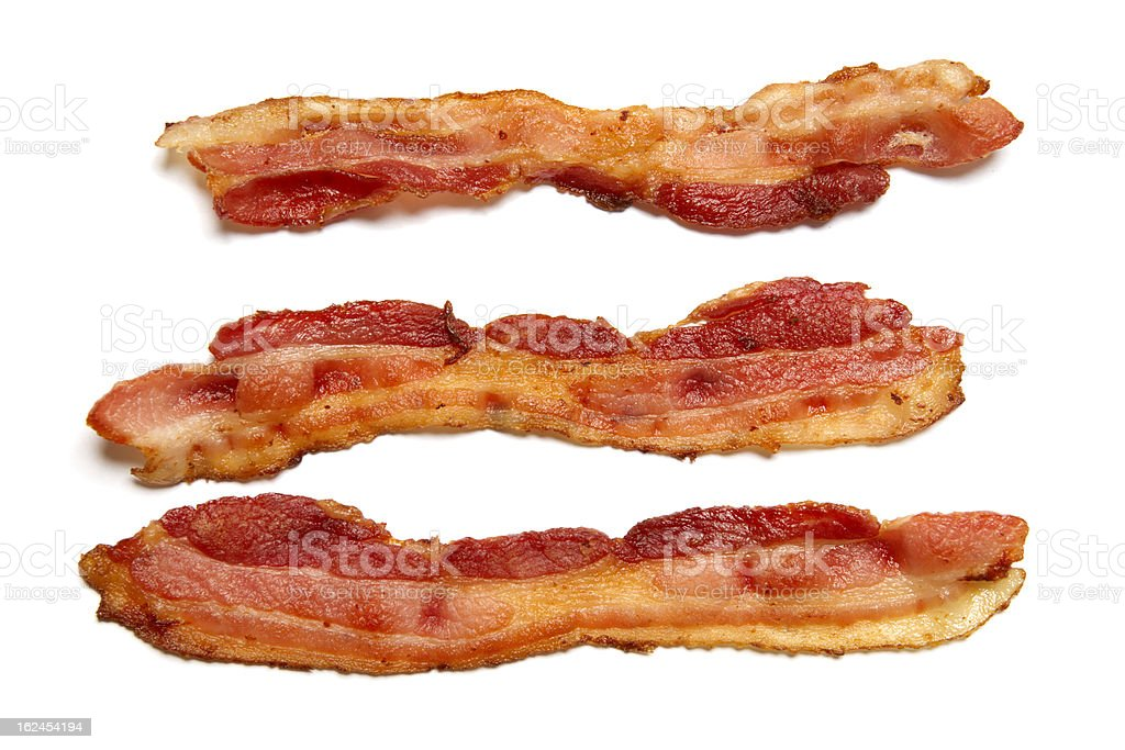 Prepared Bacon stock photo