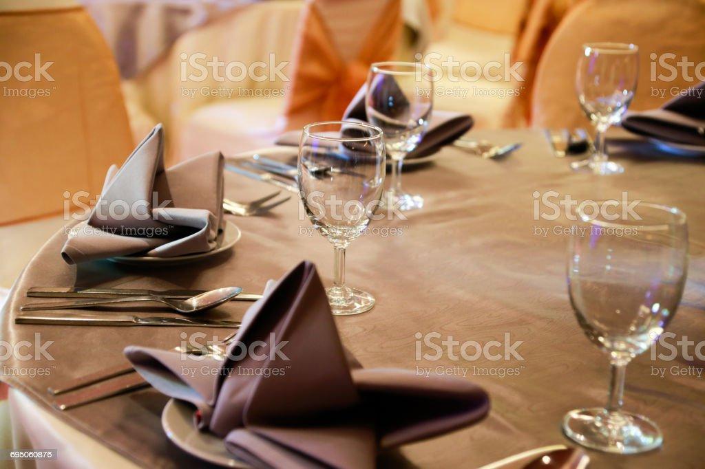 prepared gala dinner stock photo