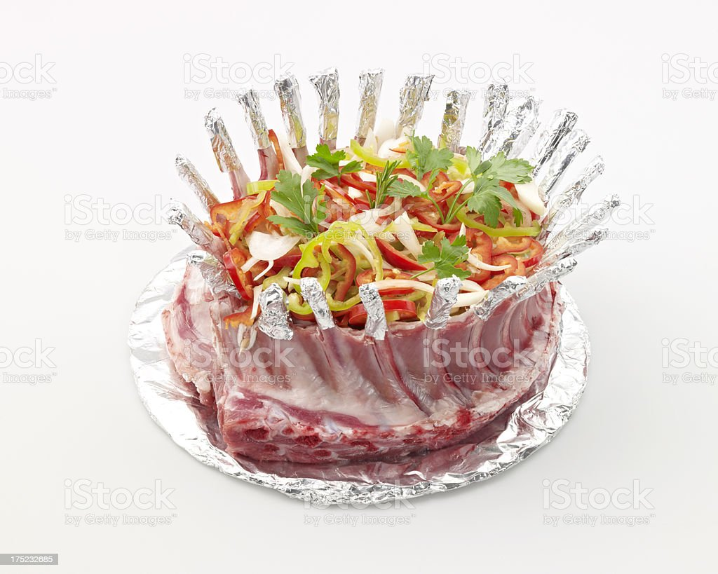 Prepared lamb chop royalty-free stock photo