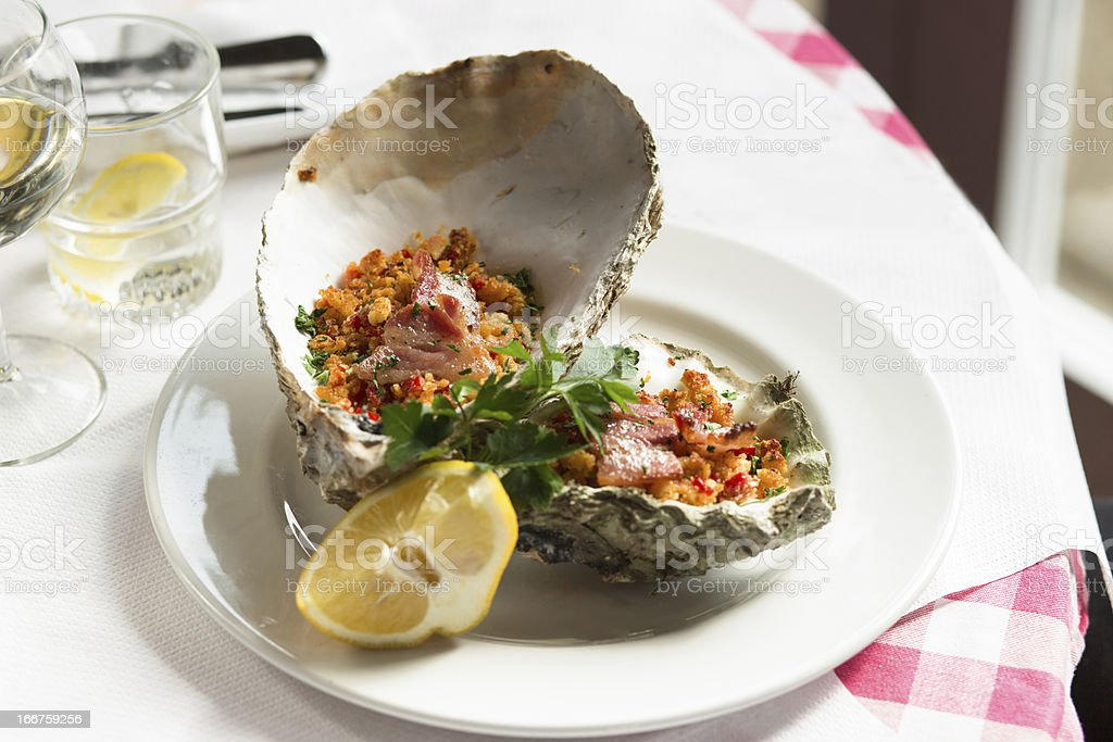 Prepared Oysters royalty-free stock photo