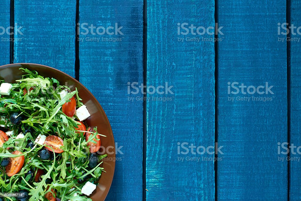 Prepared salad stock photo