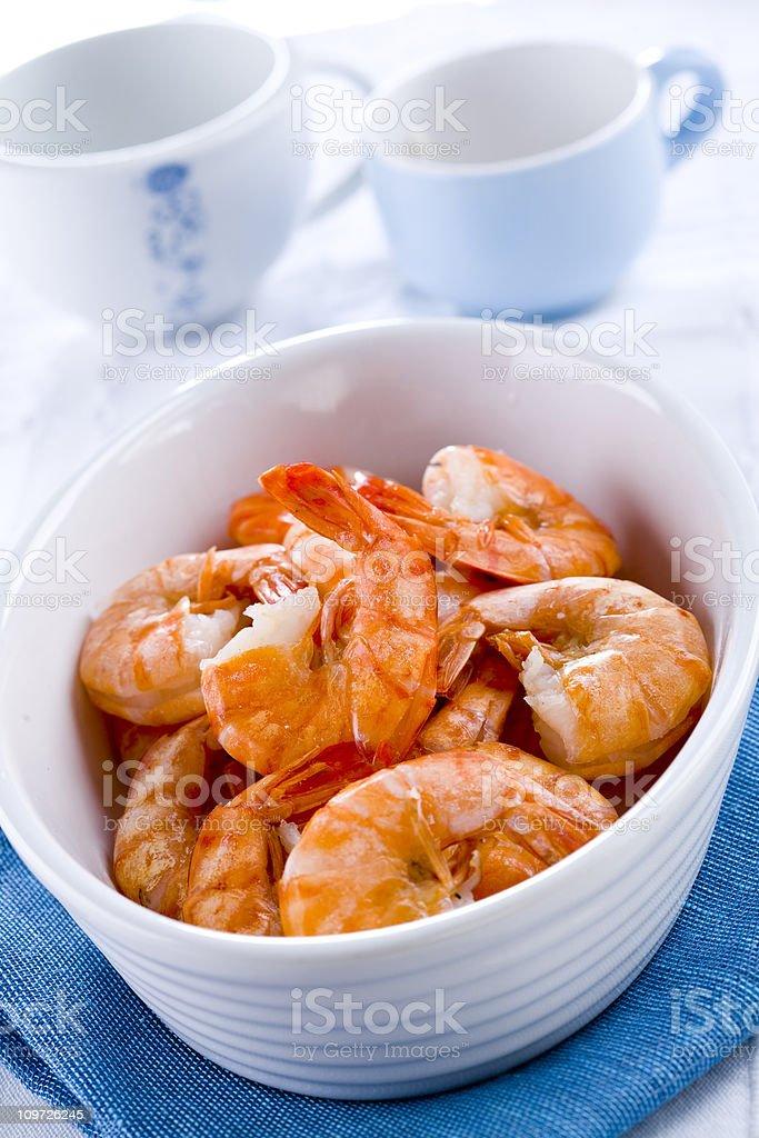Prepared shrimp royalty-free stock photo