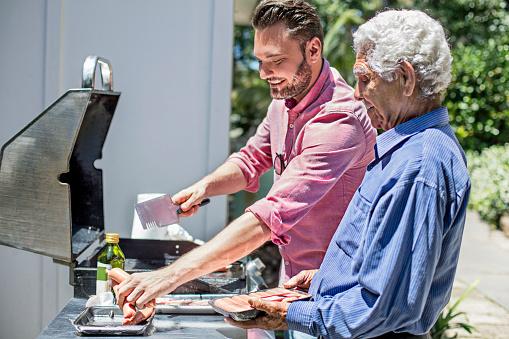 Preparing a barbecue