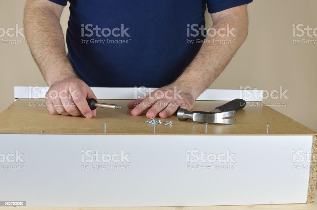 Preparing a Drawer royalty-free stock photo