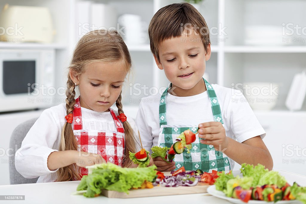 Preparing a healthy meal royalty-free stock photo