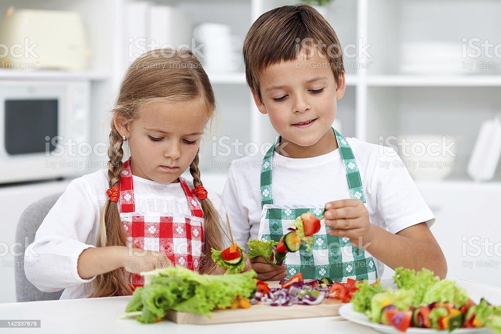 Vorbereitung eine gesunde Mahlzeit – Foto