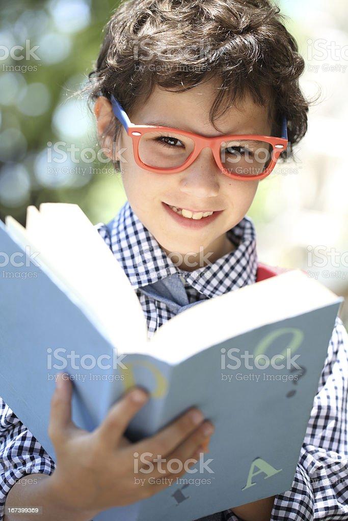 Preparing a homework royalty-free stock photo