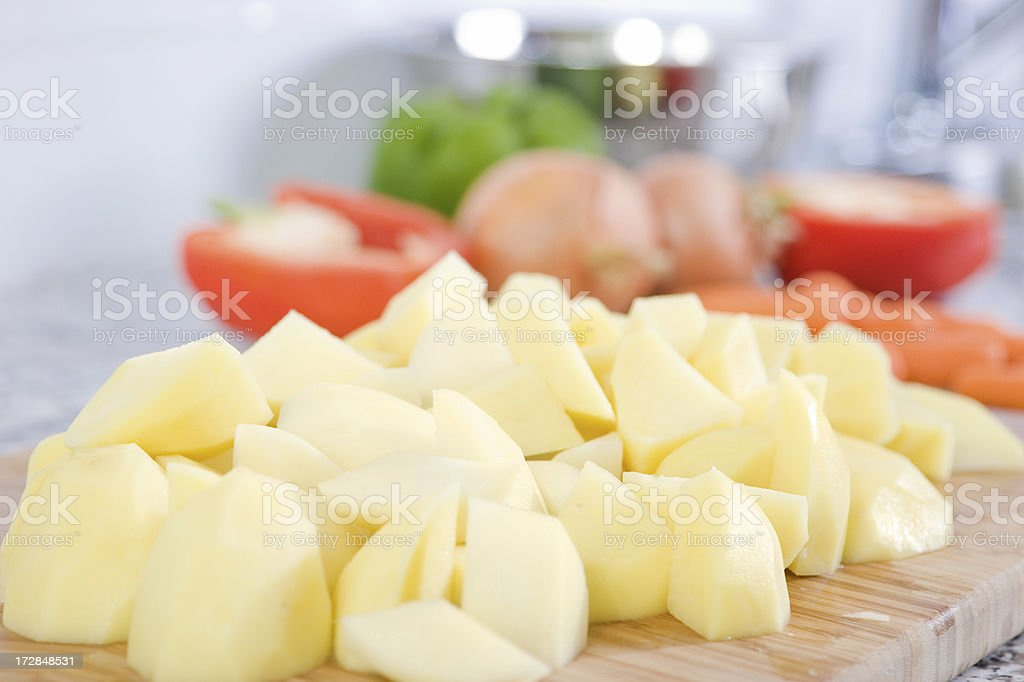 Preparing a meal royalty-free stock photo