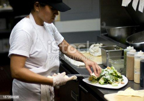 istock Preparing a salad 157394598