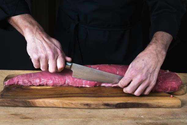 Zubereitung von Rindfleisch – Foto
