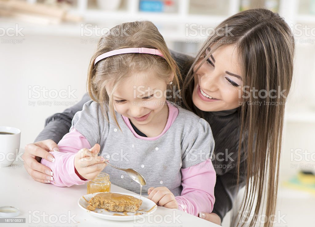 Preparing Breakfast royalty-free stock photo