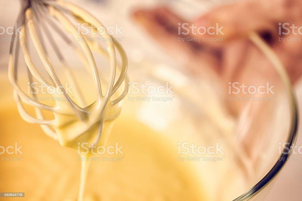 Preparing Cake Batter stock photo