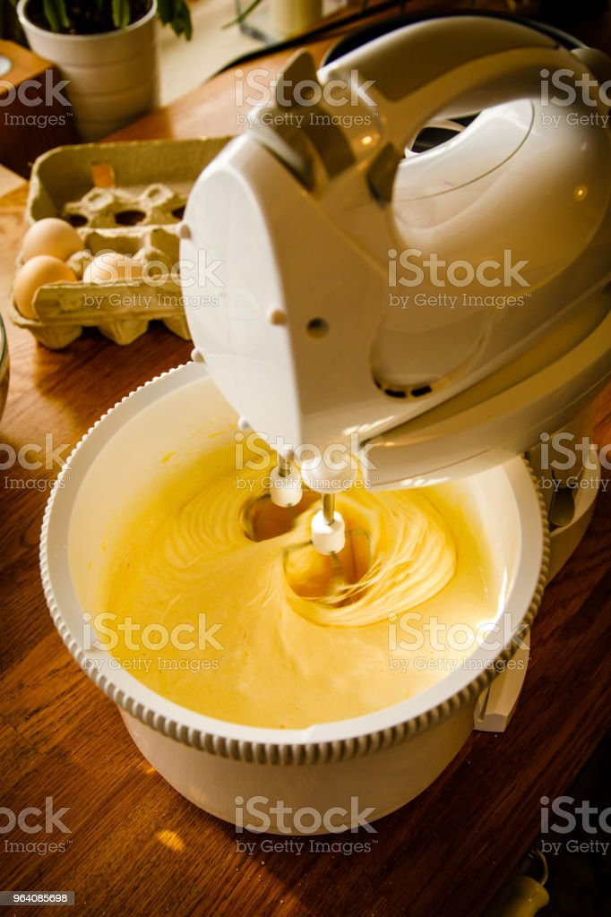 Preparing cheesecake on table - Royalty-free Baked Stock Photo