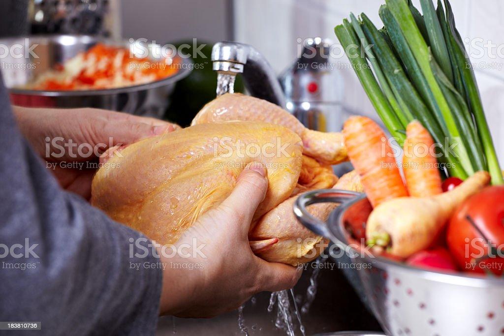 Preparing Chicken Dish royalty-free stock photo