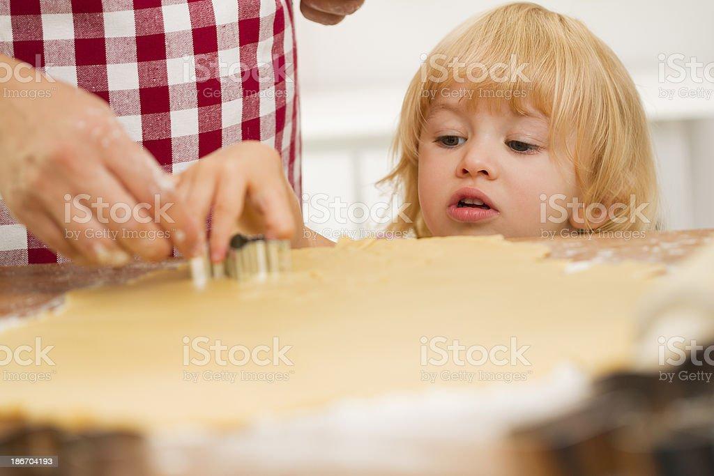 Preparing Christmas Cookies for Holiday Season royalty-free stock photo