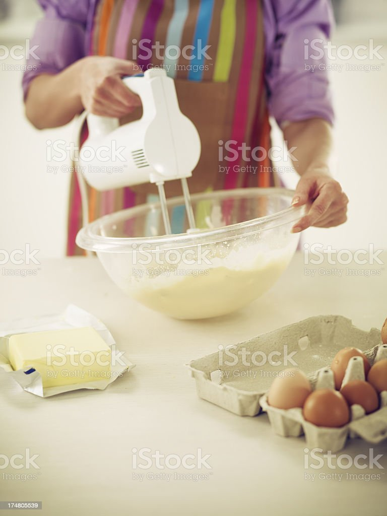 Preparing Cookies royalty-free stock photo