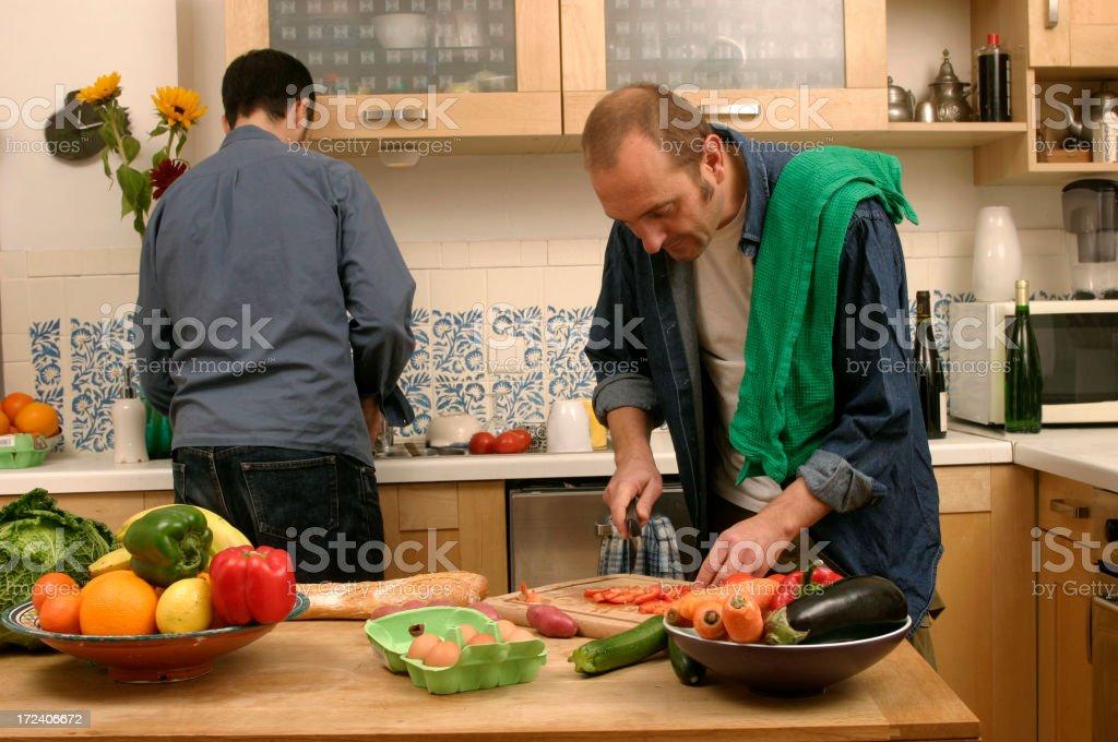 Preparing dinner royalty-free stock photo