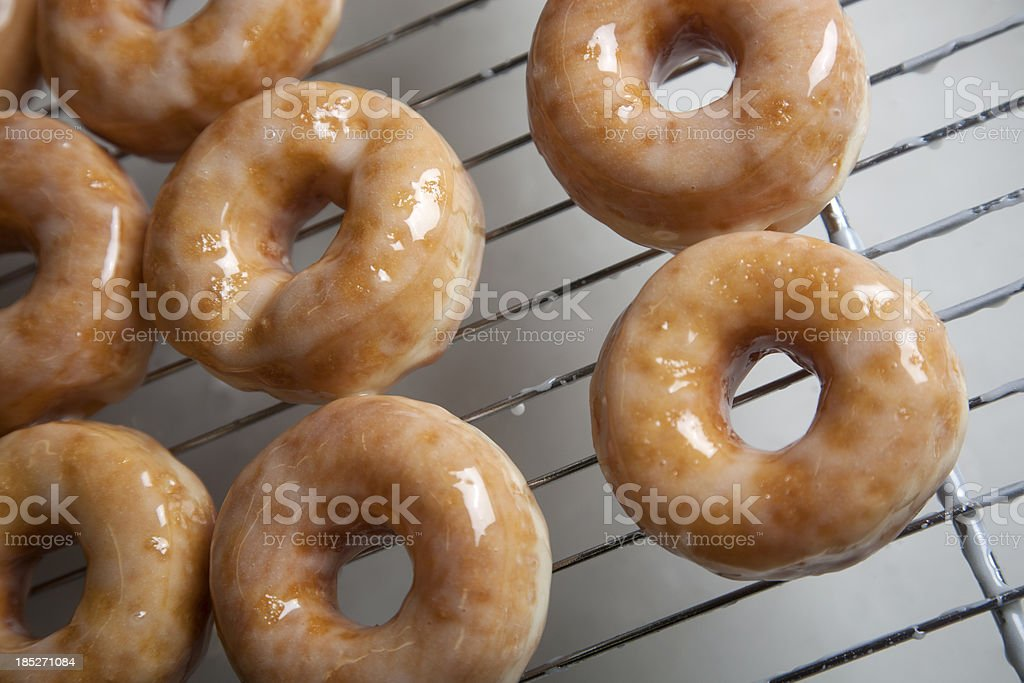 Preparing donuts in a bakery stock photo