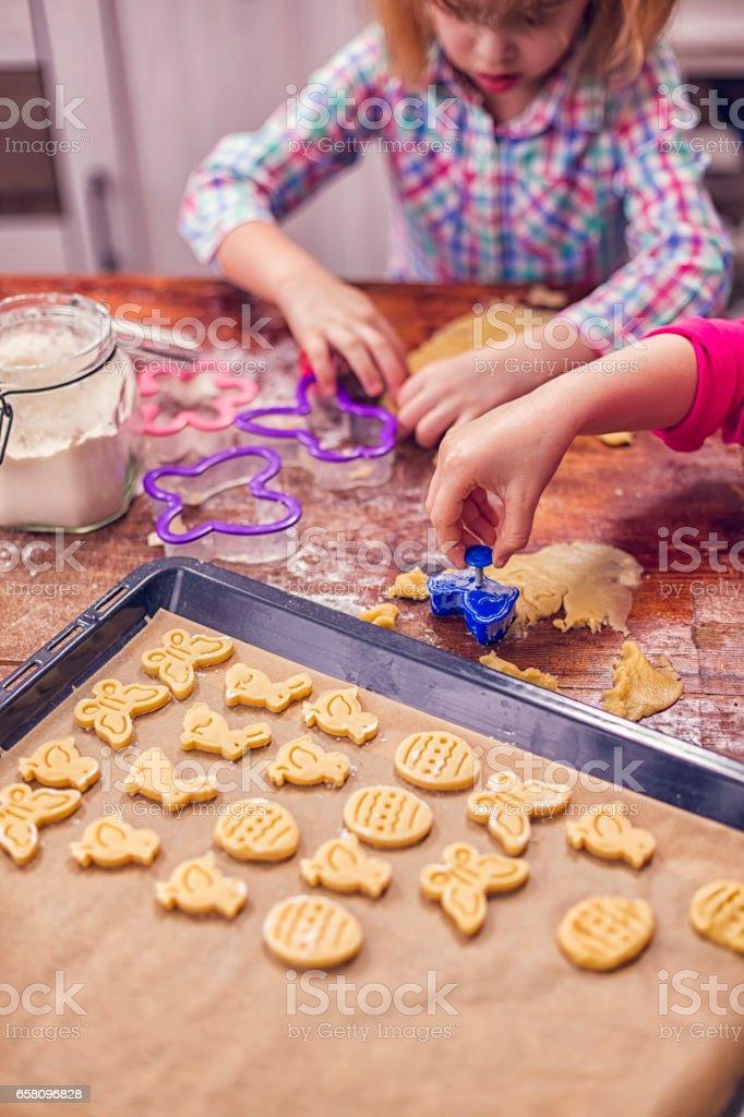 Preparing Easter Cookies royalty-free stock photo