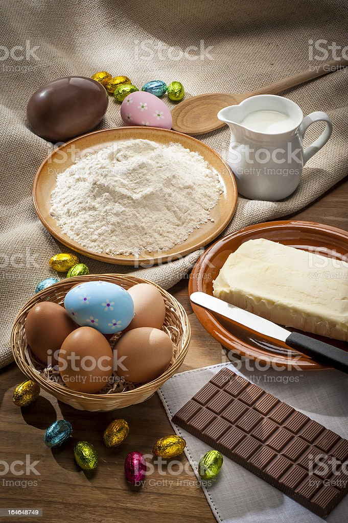 Preparing Easter sweets royalty-free stock photo