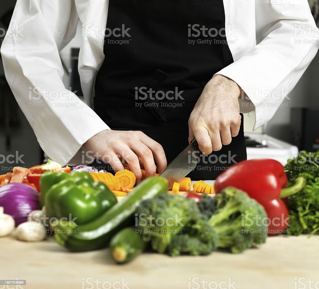 Preparing food royalty-free stock photo