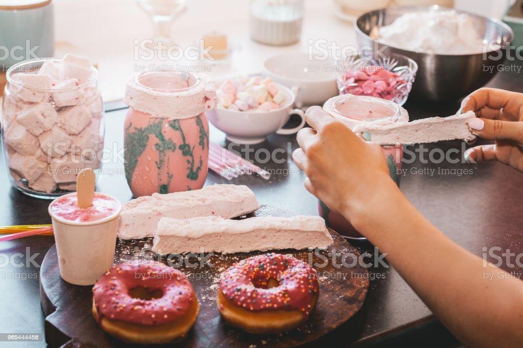 Preparing food. zbiór zdjęć royalty-free