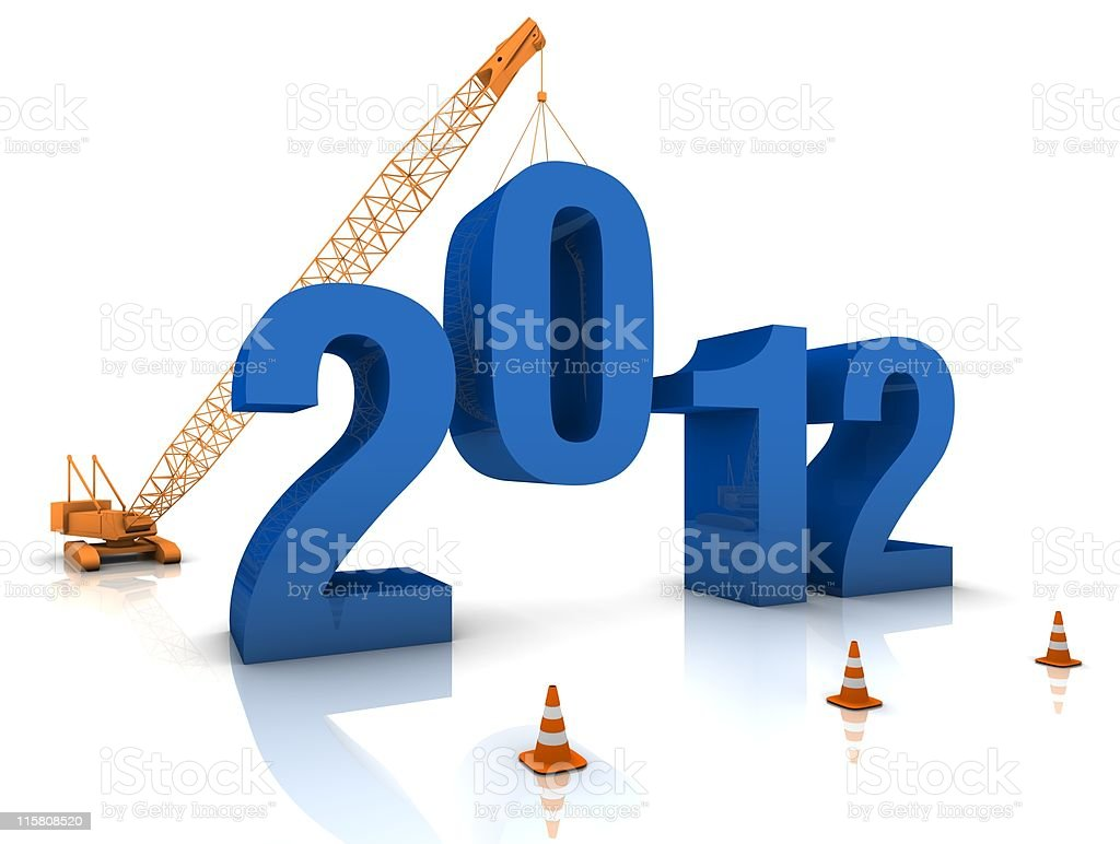 Preparing for 2012 royalty-free stock photo