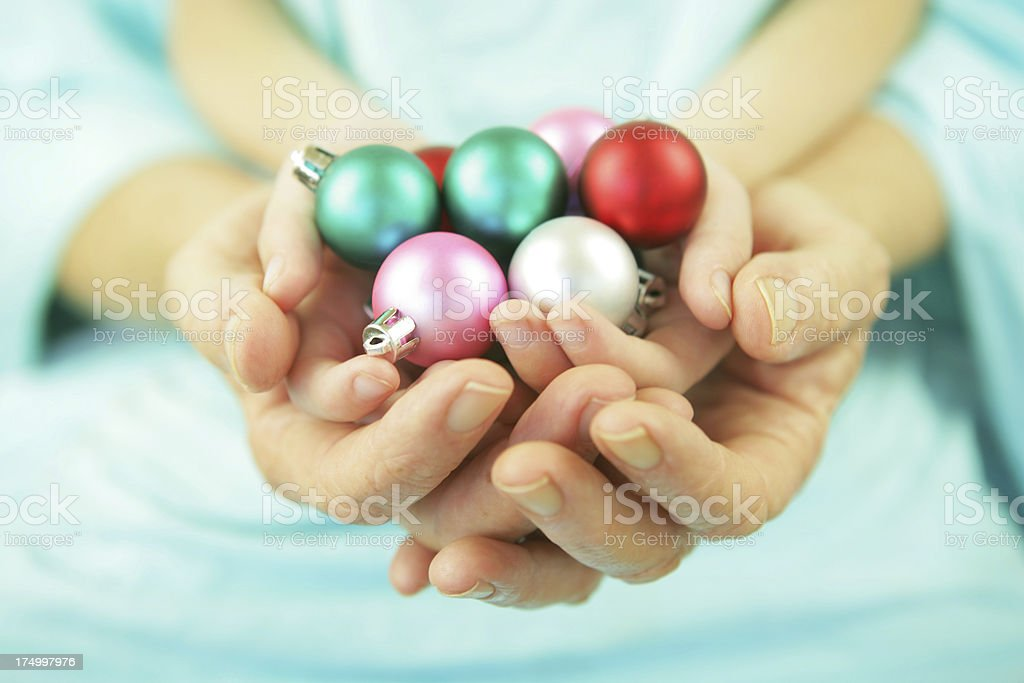 Preparing for a Family Christmas stock photo