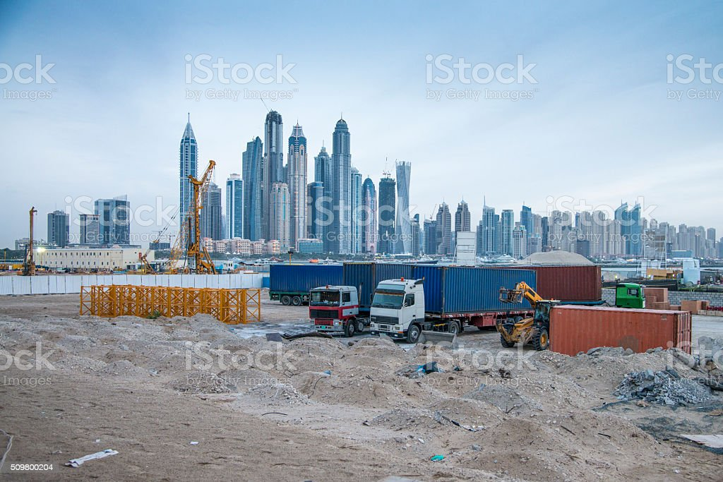 Preparing for a new building stock photo
