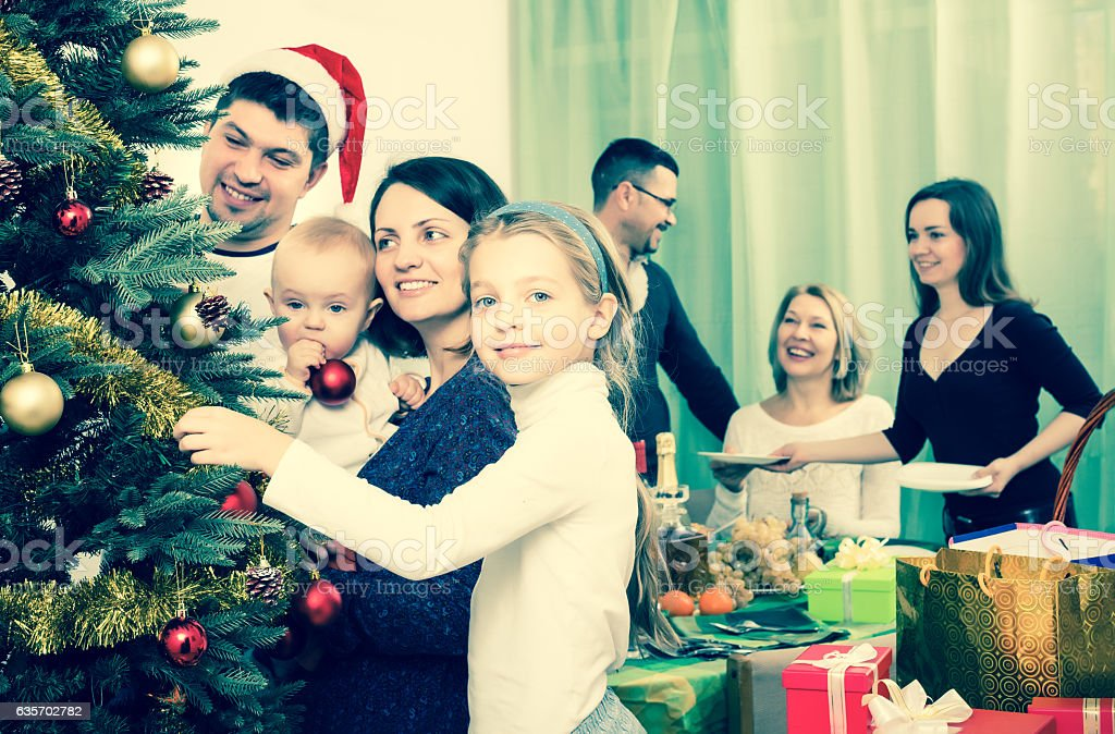 Preparing for Christmas celebration royalty-free stock photo